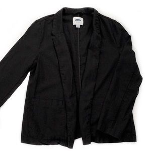 Old Navy • Black Linen Blazer